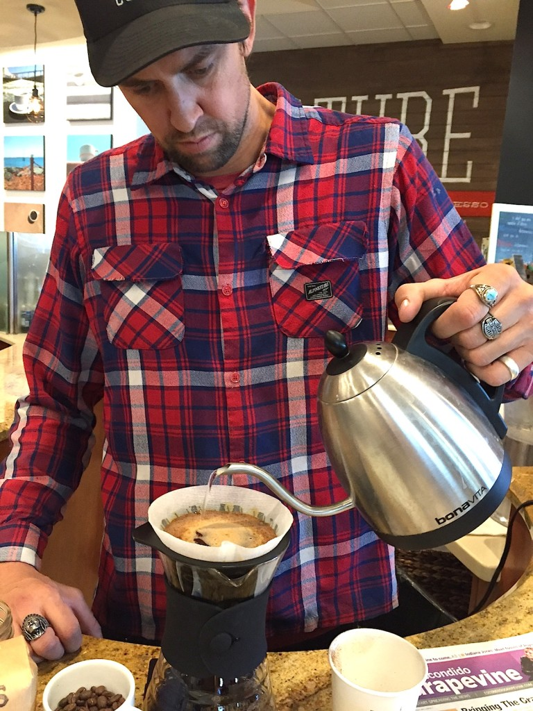 David Kennedy prepares some special brew at CULTURE.