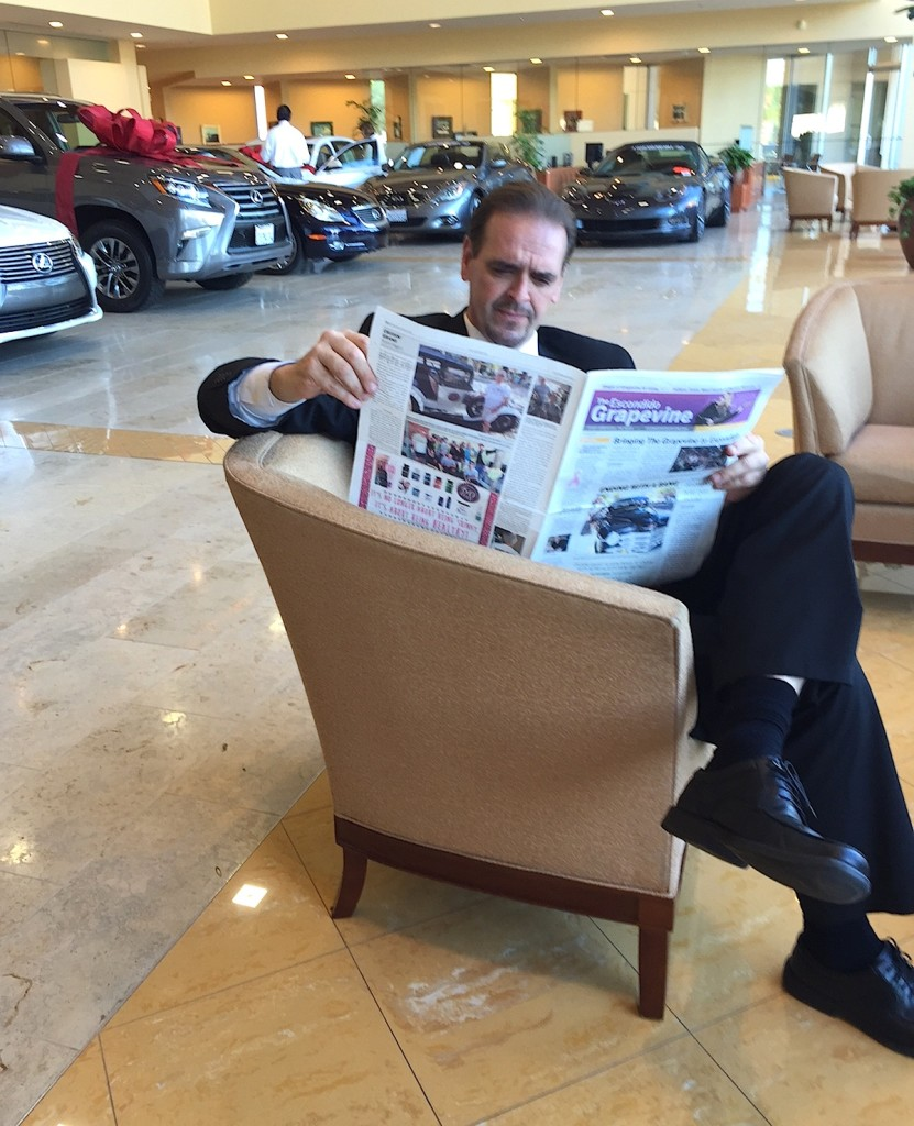 Lexus sales and licensing specialist Pat Mulholland checks out The Grapevine.